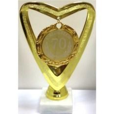 Кубок-сердце с медалью С Юбилеем 70 лет