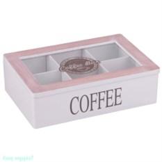 Шкатулка для чая и кофе Coffee bar, 24х16х6,8 см