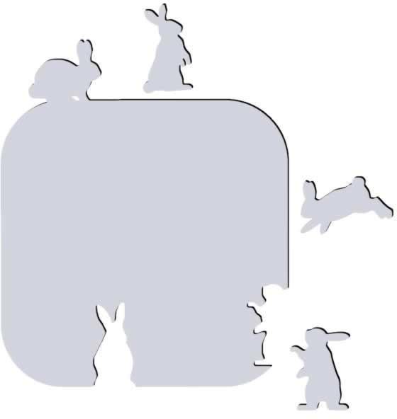 Декоративное зеркало Зайцы-попрыгайцы