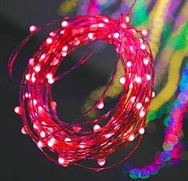Гирлянда Капельки, 100 красных mini-LED ламп