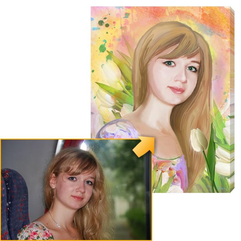 Дизайнерский портрет по фото