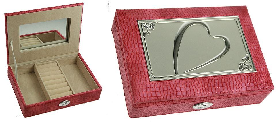 Розовая ювелирная шкатулка
