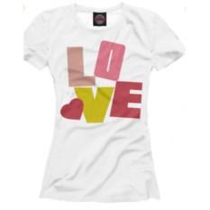 Футболка Любовь и буквы