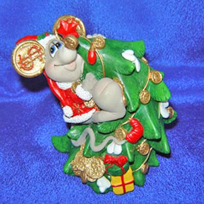 Копилка «Мышка-Дед Мороз»
