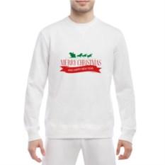 Белый мужской свитшот Merry Christmas