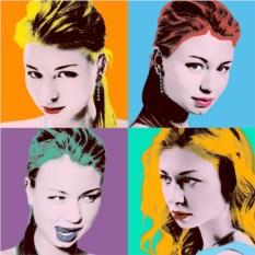 Сложный портрет в стиле поп-арт