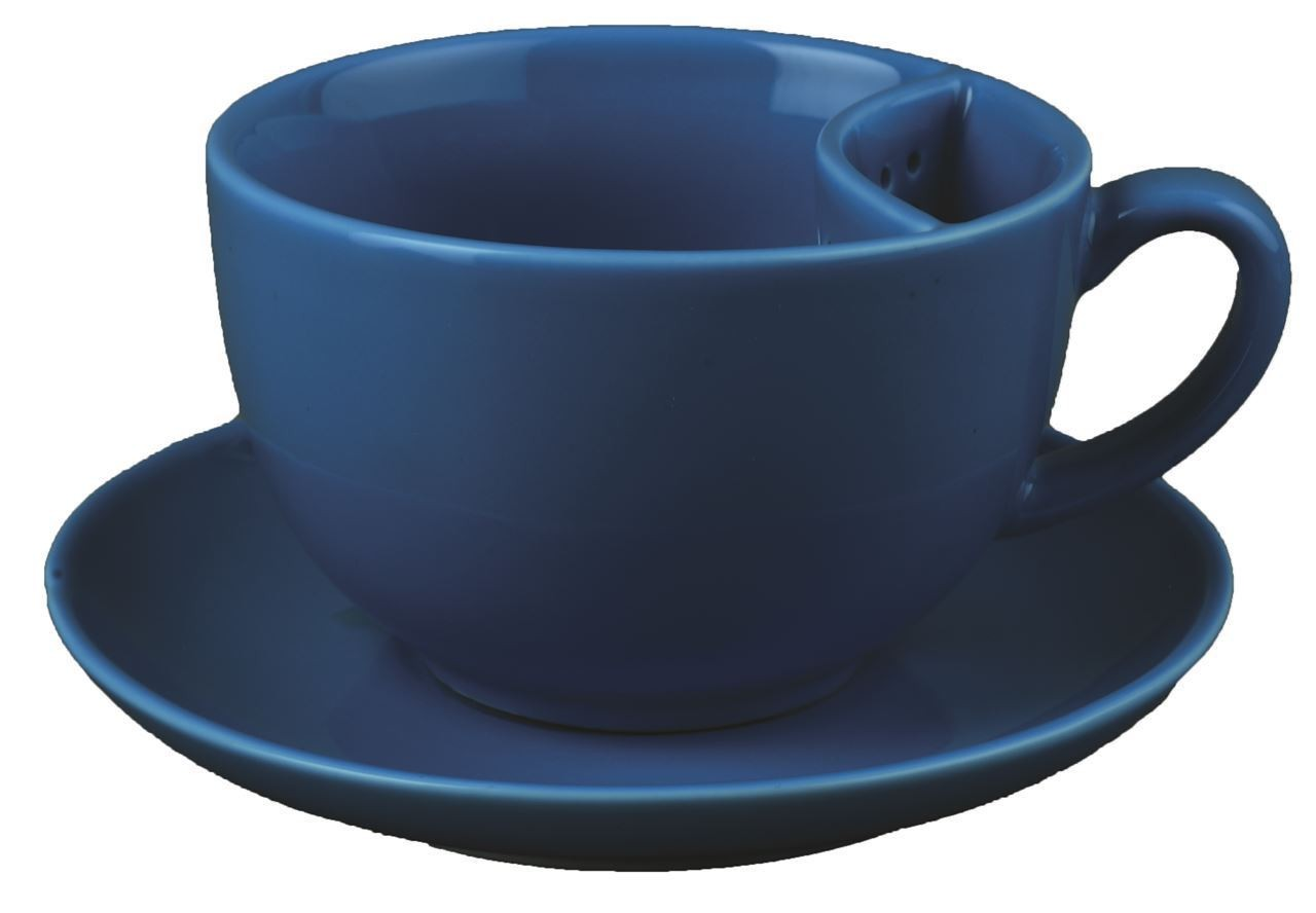 Чашка с кармашком для пакетика и блюдце