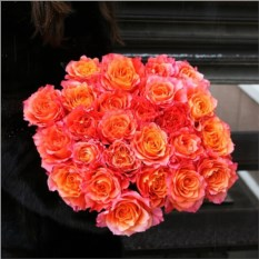 Букет из 25 рыжих роз Эквадор