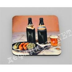 Подставка под кружку «Пиво в бутылке»