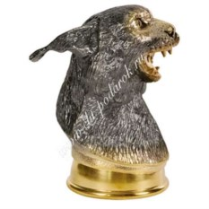Стопка-перевертыш «Рысь» из серебра с золочением