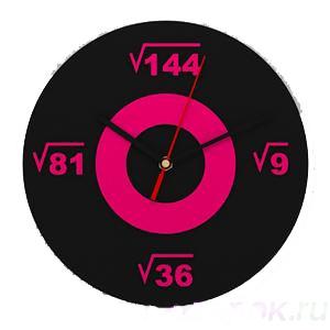 Настенные часы «Квадратные корни»