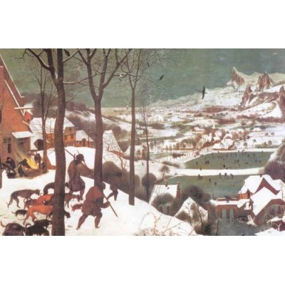 Репродукция картины Охотники на снегу