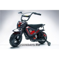 Детский электромотоцикл HOOK OX 24V black