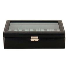 Черная шкатулка с окошком для хранения 10 часов
