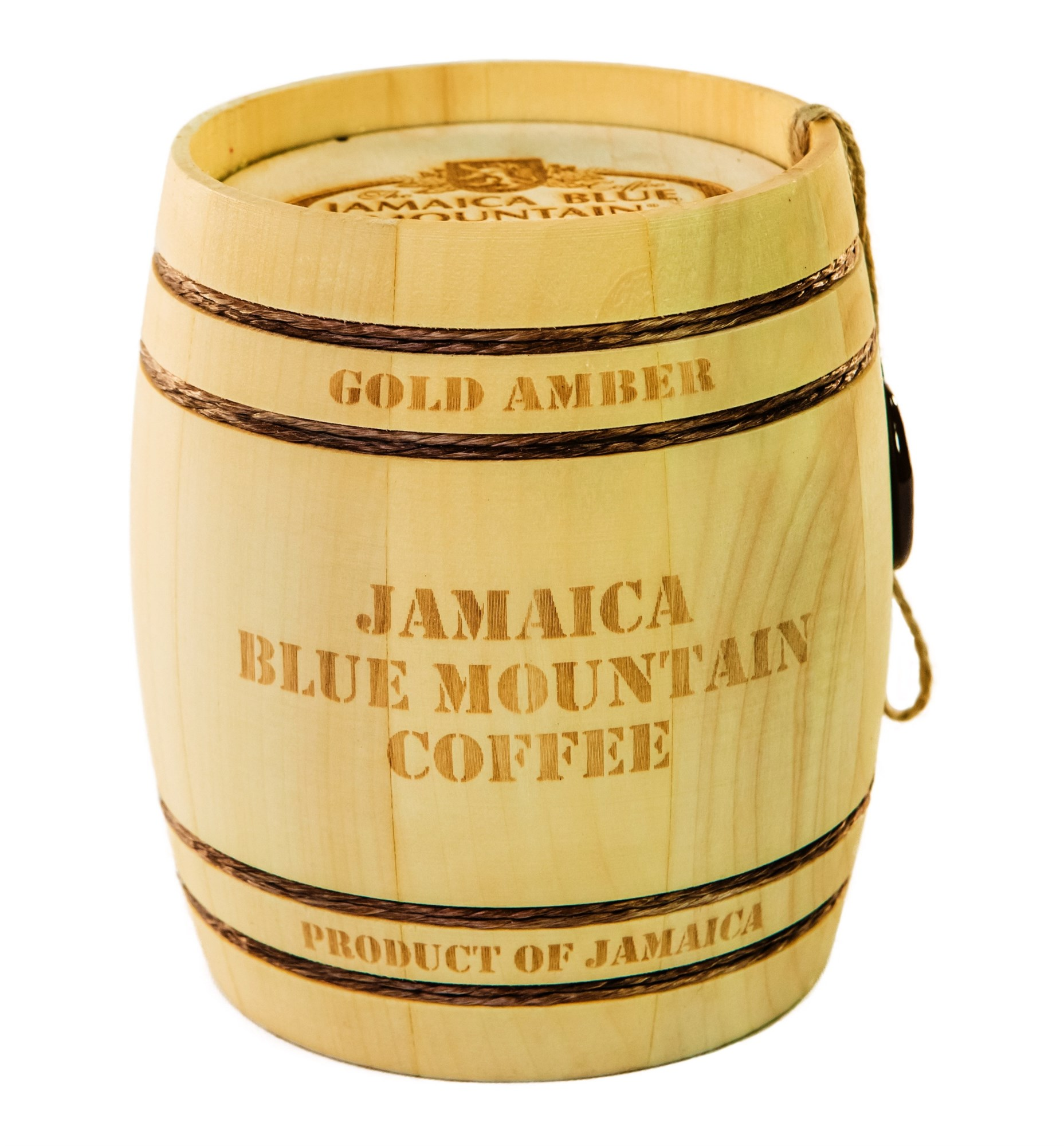 Кофе Ямайка Блю Маунтин Gold Amber, зерно, обжарка средняя, бочонок (150 г)