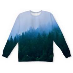 Свитшот с полной запечаткой Лесной пейзаж