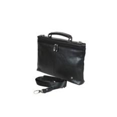 Кожаный черный мужской портфель Sergio Belotti