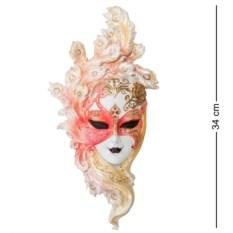 Венецианская маска Павлин (цвет — бело-розовый)