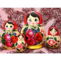 Набор русских матрёшек Семеновская хохлома