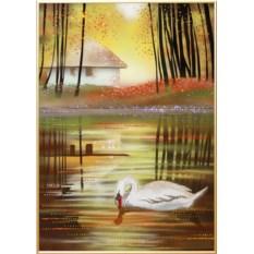 Картина с кристаллами Swarovski Осенняя пора