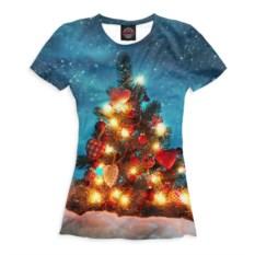Женская футболка Нарядная елка