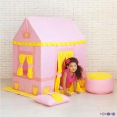 Домик-палатка с пуфиком для девочек Дворец Три Короны