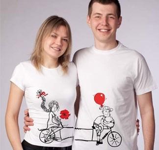 Парные футболки Велосипед