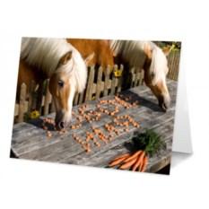 Именная открытка Лошадки