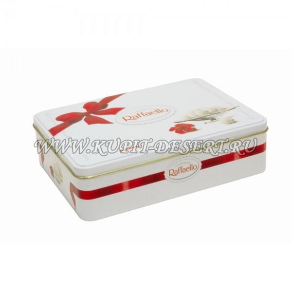 Конфеты Раффаэлло в металлической коробке