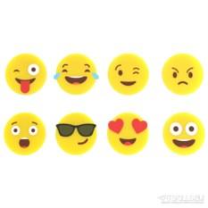 Набор из 8 маркеров для стаканов Emoji