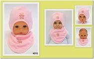 Комплект Aliap шапка и шарф, розовый