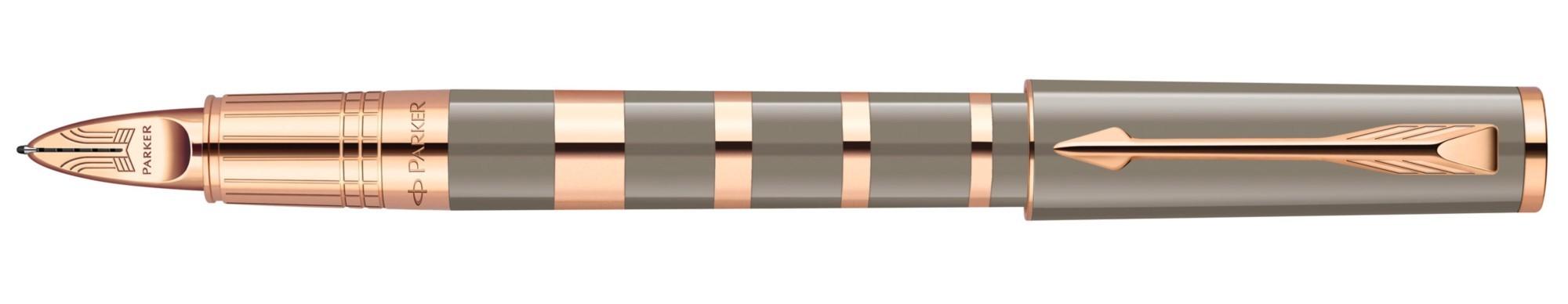 Ручка 5й пишущий узел Parker Ingenuity Ring Taupe&Metal PGT