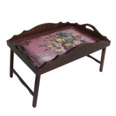 Столик для завтрака в постель с фигурным бортиком Букет
