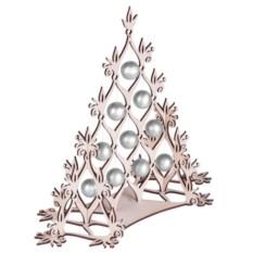 Сборная елка с серебристыми шариками Новогодний ажур
