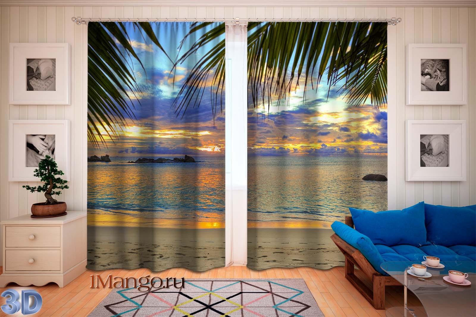 Фотошторы Тропический пляж