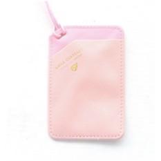 Розовый чехол для карточки на шнурке Smile Cardcase