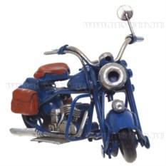 Модель мотоцикла синего цвета (11,5 см)