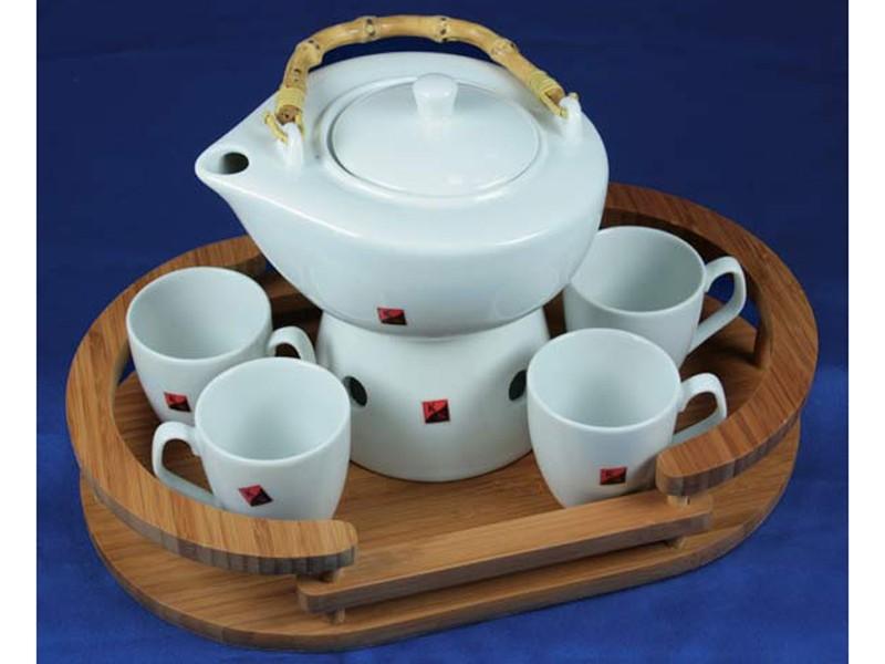 Подарочный чайный набор в корзинке