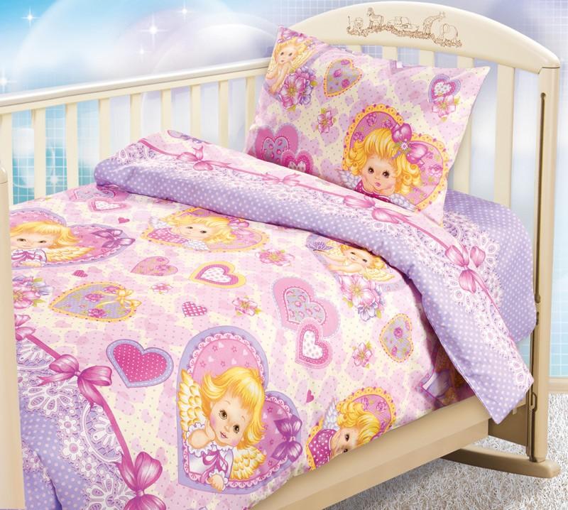 Комплект постельного белья Ангелочки (ясельный)