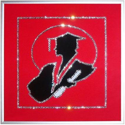 Картина с кристаллами Swarovski «Выпускнику»