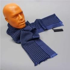 Синий мужской шарф в полоску Calvin Klein