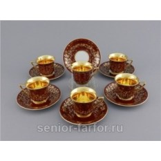Набор высоких чашек 0,10 л (6 шт) Leander 31251