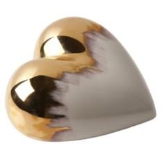 Фарфоровое сердце Gold Rain