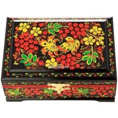 Деревянная шкатулка с хохломской росписью (120х80 см)