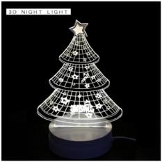 3D-светильник «Новогодняя ёлочка»