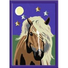 Раскраски по номерам Ravensburger Лошадь в лунном свете