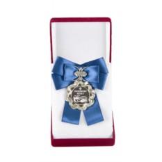 Большая медаль с синим бантом Любимому мужу
