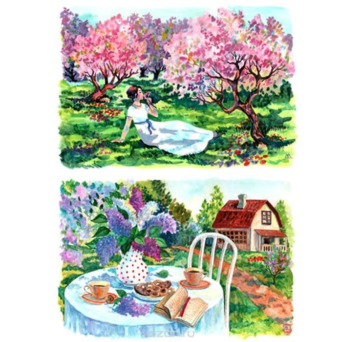 Рисовая бумага для декупажа Яблоневый сад, A3