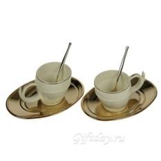 Кофейный набор с позолотой