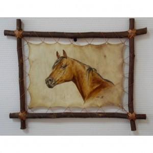 Картина на коже Голова лошади
